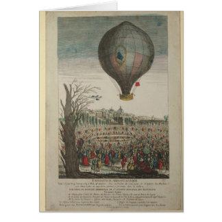 Heißluftballon-Experiment Karte