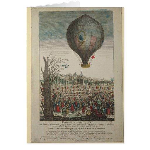 Heißluftballon-Experiment Karten