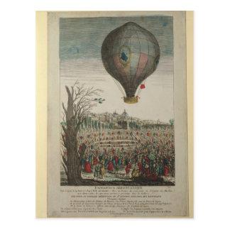 Heißluftballon-Experiment Postkarte