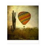 Heißluftballon-Flug über der Südwestwüste Postkarte