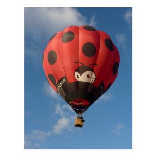 Heißluftballon - Hot balloonluft - Käfer Postkarte