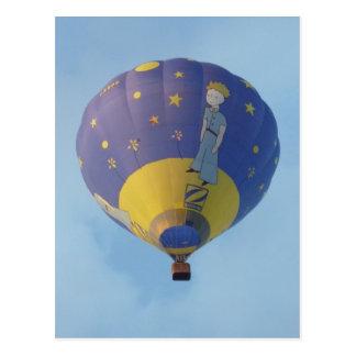 Heißluftballon - Hot balloonluft - kleiner Prinz Postkarte