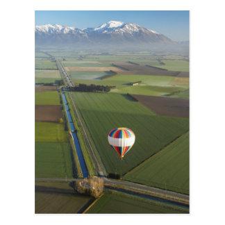 Heißluftballon, nahe Methven, Canterbury Postkarte