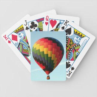Heißluftballon oben bicycle spielkarten
