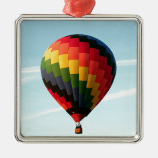 Heißluftballon oben silbernes ornament
