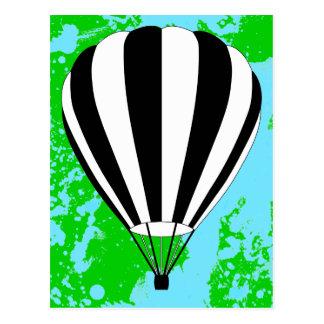 Heißluftballon Postkarte