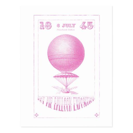 HeißluftBallon Steampunk Postkarten