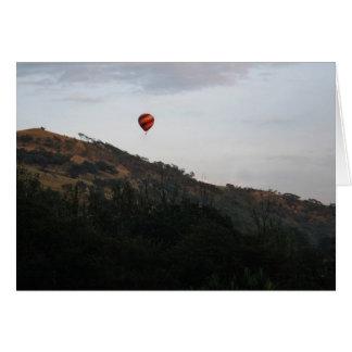 Heißluftballon, zum des Lebens zu feiern Karte