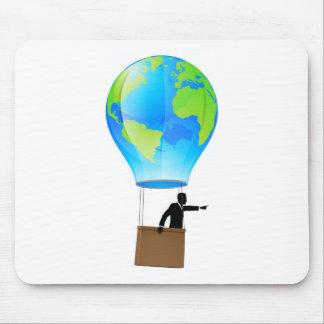 Heißluftballonkugel Mousepad