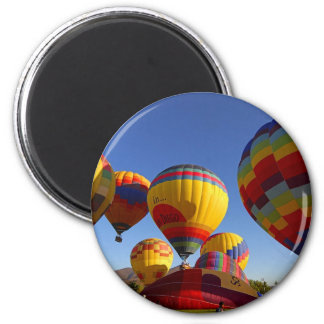HeißluftBallons Runder Magnet 5,1 Cm