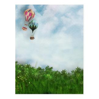 Heißluftballonszene Postkarte