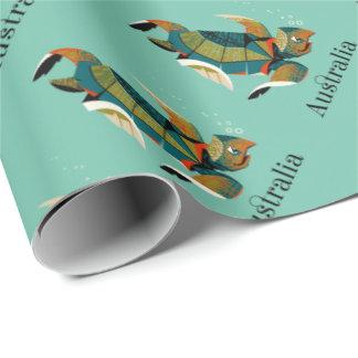 Heitre australische Meeresschildkröte Geschenkpapier