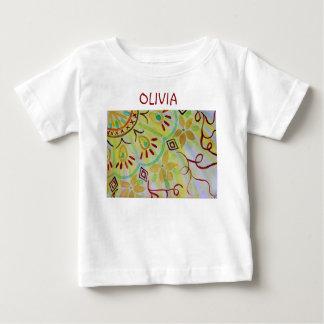 Heitre, gelbe, grüne und braune, BlumenMandala Baby T-shirt