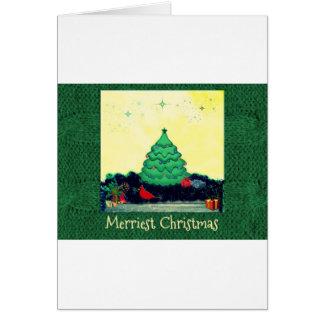 Heitre Weihnachtsszene Karte