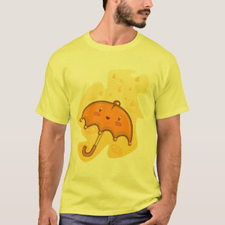 Heitrer Regenschirm - sonniger T - Shirt