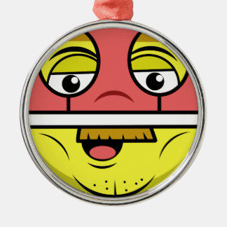 Held-Gesicht Silbernes Ornament