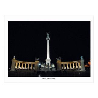 Held-Quadrat nachts Postkarte