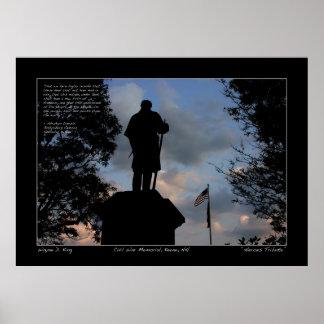 Held-Tribut - Lincoln-Zitat Postr - Gettysburg Plakat