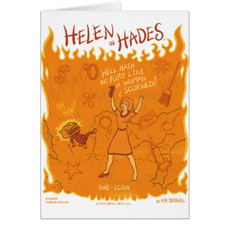 Helen in Hades Cartoon #4 Karte