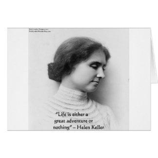 "Helen Keller""das Leben ist Abenteuer-"" Karte"