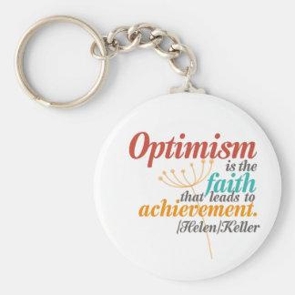 Helen Keller-Optimismus-Zitat Schlüsselanhänger