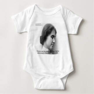 Helen Keller u. berühmtes taubes/blindes Zitat Baby Strampler