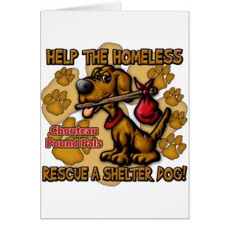 Helfen Sie dem Obdachlosen Karte
