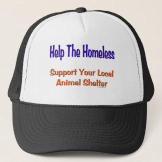 Helfen Sie dem Obdachlosen Truckerkappe