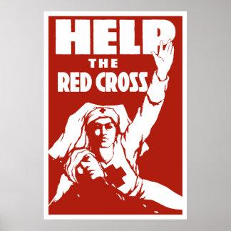 Helfen Sie dem roten Kreuz Poster