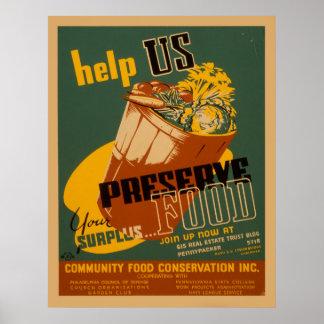 Helfen Sie uns, Ihr überschüssiges Poster