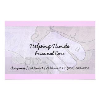 Helfende Handpersönliche Sorgfalt-Flyer 14 X 21,6 Cm Flyer
