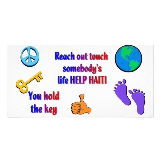 Helfendes HAITI_ Fotokarte