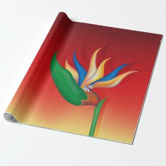 Heliconia Blume Geschenkpapier