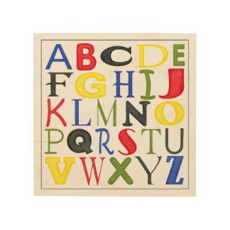 Hell farbige Buchstaben durch Megan Meagher Holzdruck