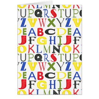 Hell farbige Buchstaben durch Megan Meagher Karte