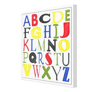 Hell farbige Buchstaben durch Megan Meagher Leinwanddruck