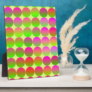 Hell farbige Punkte Fotoplatte