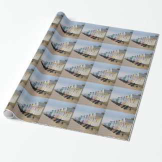 Hell gemalte Strand-Hütten Geschenkpapier