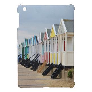 Hell gemalte Strand-Hütten iPad Mini Hülle