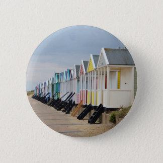Hell gemalte Strand-Hütten Runder Button 5,1 Cm