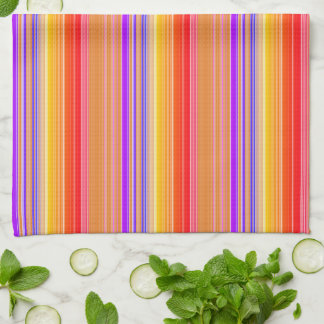 Hell mehrfarbige Streifen Handtuch
