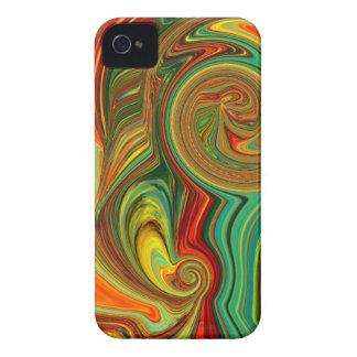 Hell mutiger abstrakter Entwurf im Wirbel iPhone 4 Case-Mate Hülle