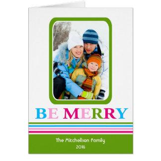 Hell SEIEN Sie FRÖHLICHE bunte Weihnachtskarte Karte