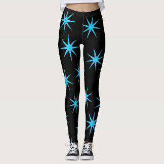 Hell u. blau leggings