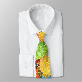 Hell und bunt bedruckte krawatte
