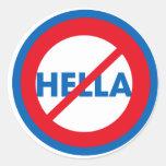 Hella ist nicht ein Wort-Aufkleber