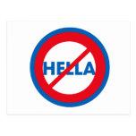 Hella ist nicht eine Wort-Postkarte
