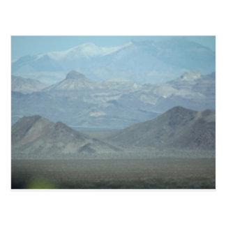 Hellblaue Berge Postkarte