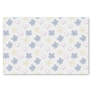 Hellblaue Blumen Seidenpapier
