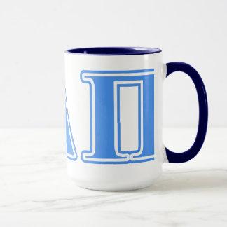 Hellblaue Buchstaben Alphadeltapus Tasse